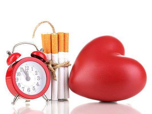 влияние нс сердце курения